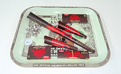 Wiz Khalifa Geschenk Set, groß Metall Rolling Tablett Deal Geschenk für sie oder Ihre Lieben von Trendz
