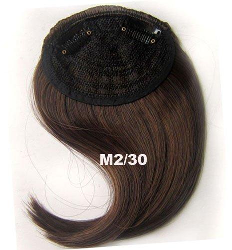 # 2 _ 30/Frange Frange Cheveux Synthétiques Cheveux Clip dans/sur le côté