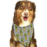 Wfispiy Ananas und abstrakte Welle Muster Ostern Dog Bandana Reversible Dreieck Lätzchen für Hunde Haustier Tiere
