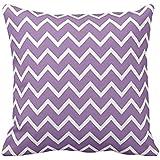 Large Bellflower Purple Chevron Pillow case 2222