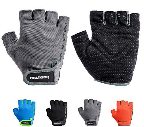 meteor Cycling Gloves radhandschuhe MTB Handschuhe Herren Gel fahrradhandschuhe Mountainbike Radsport Damen Radsport-Handschuhe Downhill Fahrrad Handschuhe Kinder (L, Flow 11) -