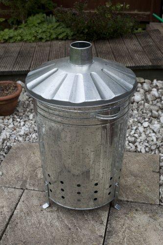 feuer tonne Apollo Gardening Verbrennungstonne aus Metall, verzinkt, 90l