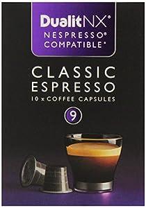10 Nespresso Concept Compatible Dualit NX Capsules (Classic Espresso)