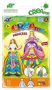Feuchtmann Juguetes 6340702 - Klecksi Creame Princesa, 3D - Colorear, Motive Blanco / Rosa