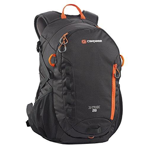 x-trek-28-hiking-daypack-rucksack-outdoor-backpack-black-blood-orange