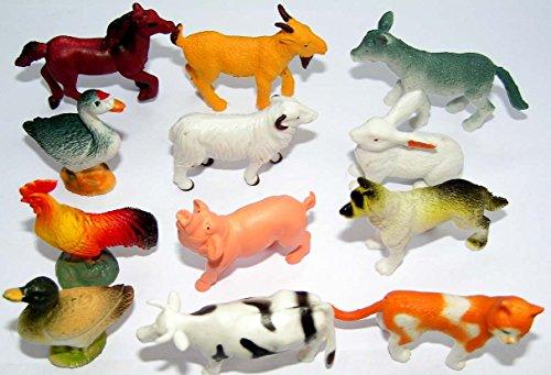 12 x trendy Farmtiere (Tiere auf dem Bauernhof) -