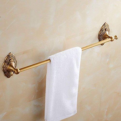 M-J Haushalt Handtuchhalter Edelstahl Gold Kupfer Einhand-Wc-Halter Haushalt Handtuchhalter Bad Badzubehör Anhänger (64 cm), um Qualität und Lebensdauer zu Gewährleisten -