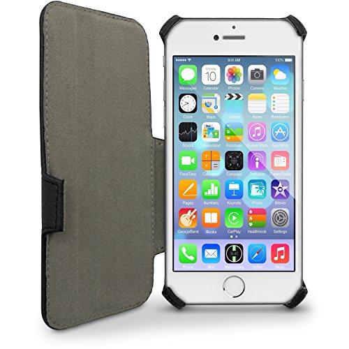 igadgitz Premium Folie Grün PU Ledertasche Schutzhülle für Apple iPhone 6 & 6S 4.7 Zoll Case Cover Mit Betrachtungs Stand + Displayschutzfolie Schwarz