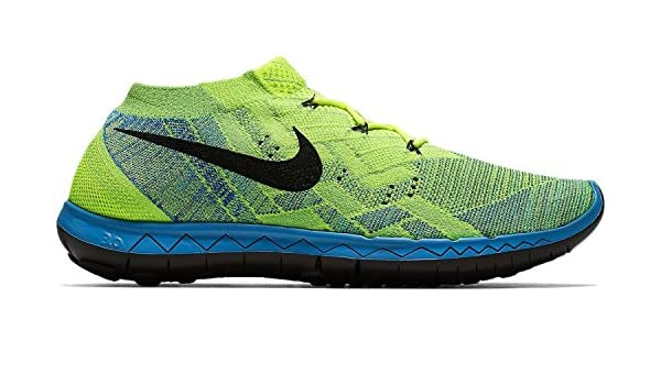 b390c5ecbe61 Nike 3.0 Flyknit Men s Volt Blue Lagoon Green Strike Black Running Shoes -  11.5 D(M) Us  Buy Online at Low Prices in India - Amazon.in