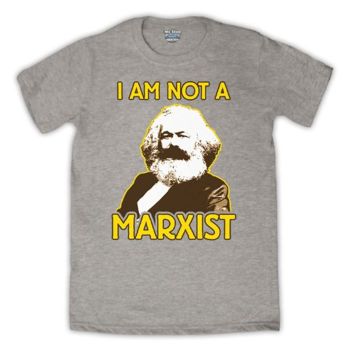 Karl Marx I Am Not A Marxist Herren T-Shirt Grau