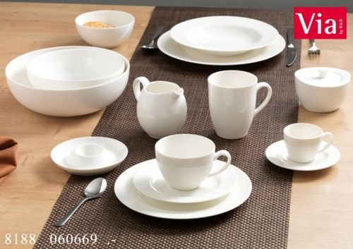 Via By R&B Geschirr-Serie Solino Material Milch&Zucker Set 2 tlg. Solino