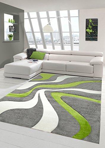 tapis-contemporain-bas-contour-pile-de-decoupe-3d-gris-vert-blanc-traumteppich-grosse-60x110-cm
