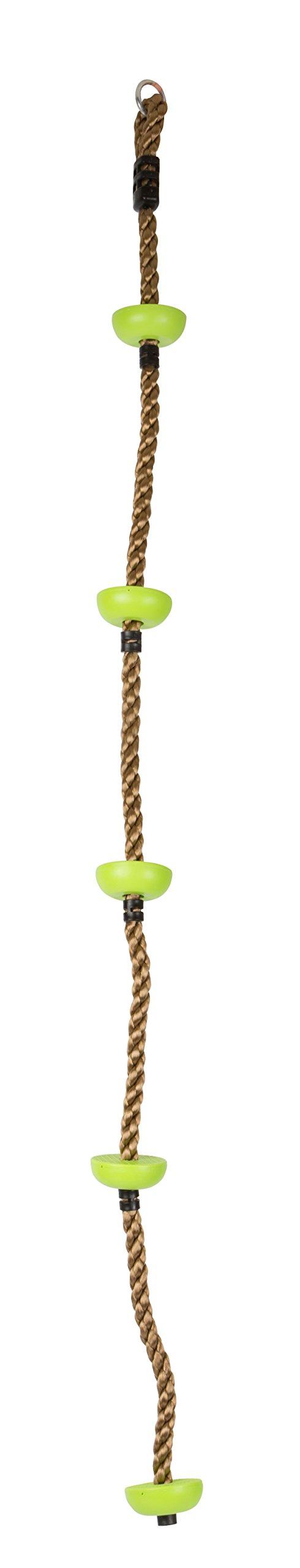 Small Foot 10877 – Cuerda de Escalada (Resistente, Resistente a la Intemperie, con Ganchos y Rastas de Seguridad, para Uso en Interiores y Exteriores, Apto para Niños a Partir de 3 Años)