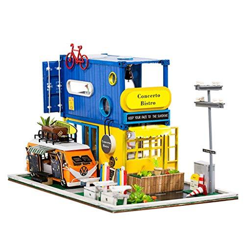 Bescita6 Hallo Sommer DIY Miniatur Puppenhaus Kit Zeit Wohnung Cottage Princess Zimmer 3D Puzzle Handgemachtes Spielzeug