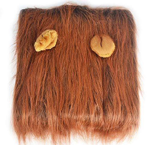 Hund Lion Mähne Perücke Mit Ohr Haustier Kostüm Halloween Fancy Puppy Kopf Dekoration Lustige Ergänzende Lion ()