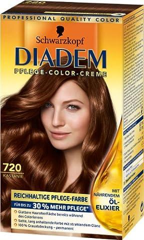 Diadem Pflege-Color-Creme 720 Kastanie, 3er Pack (3 x 142 ml)