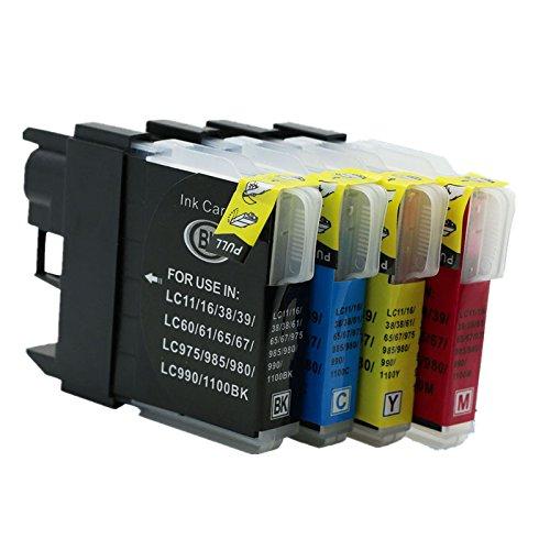 Preisvergleich Produktbild Generisch Kompatible Tintenpatronen Ersatz für Brother LC39/60 LC 39 60 LC39 LC60 LC-39 LC-60 Tintenpatronen Hohe Kapazität kompatibel für Brother MFC-6490CN MFC-6490CW MFC-6890CDW MFC-6890CN MFC-J265W MFC-J410 MFC-J415W MFC-J220 Tintenpatronen für Inkjet Drucker (1 Schwarz,1 Cyan,1 Magenta, 1Gelb)