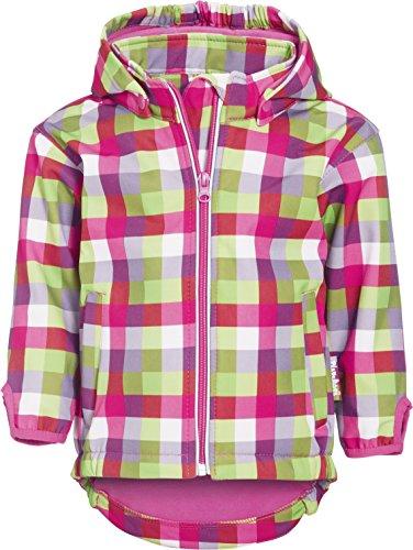 Playshoes Jungen Jacke 430104 Playshoes 3-Lagen Kinder Softshell-Jacke Karo, Gr. 116, Pink (pink/multicolour)