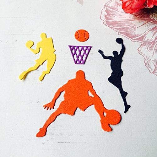 Basketball-Mannschaft Schneiden Schablonen, Cutting Dies, Prägeschablonen Stanzformen Schablonen Papier Karten Sammelalbum Dekor -