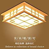 LYXG 24-W-Japan und Tatami Zimmer Lampe leuchtet die LED Deckenleuchte aus Massivholz Schlafzimmer Deckenleuchte (450*450*120mm), warmes Licht