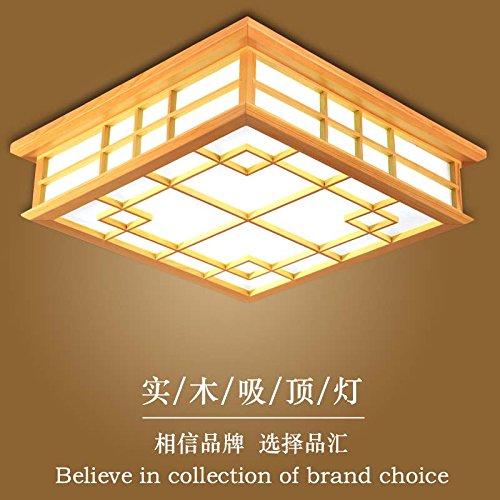 Preisvergleich Produktbild LYXG 24-W-Japan und Tatami Zimmer Lampe leuchtet die LED Deckenleuchte aus Massivholz Schlafzimmer Deckenleuchte (450*450*120mm), warmes Licht
