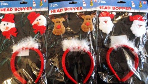 Kinder Weihnachts Kopfschmuck Santa, Schneemann oder Rentier Design