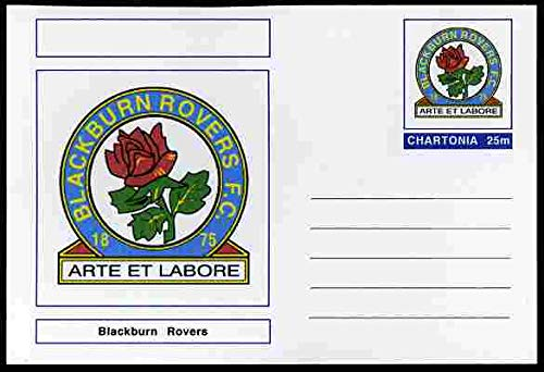 Chartonia (Fantasy) Football Club Badges - Blackburn Rovers postal stationery card unused and fine SPORT FOOTBALL JandRStamps -