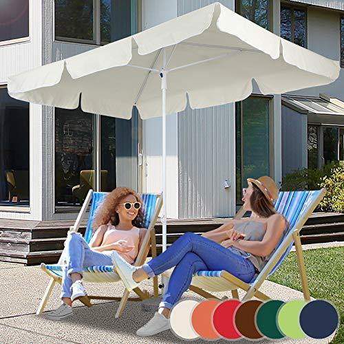 Sonnenschirm Sonnenschutz Gartenschirm 1,80m x 1,20m in 7 verschiedenen Farben