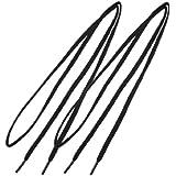 Par Unisex Plástico Punta Negro Redondo Cable Zapato Cordones Cuerda 43.7