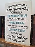 Letrero de Madera con Frases. Mensajes Positivos e inspiradores para decorar tus espacios, regalar, compartir y disfrutar.