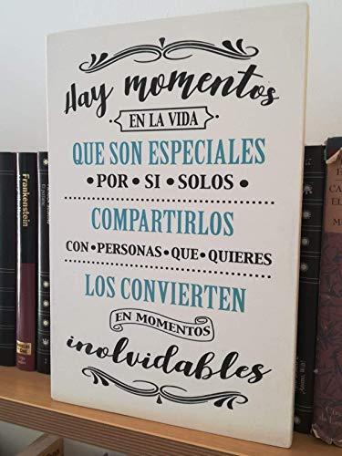 Letrero Madera Frases. Mensajes Positivos inspiradores
