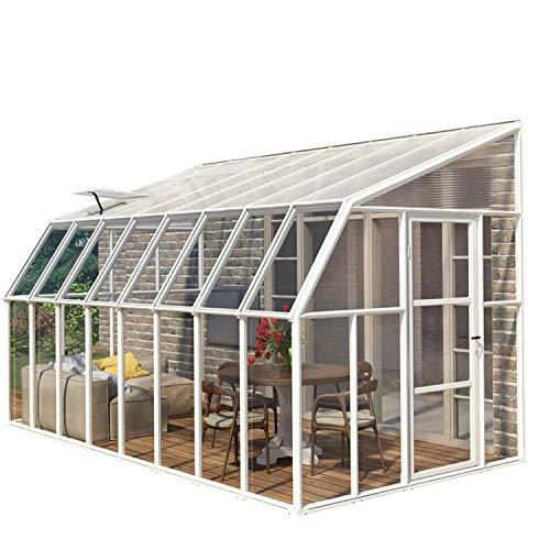 """RION Kunststoff Anlehngewächshaus / Wintergarten """"Sun Room 410"""" (632x 258 x 266cm (TxBxH) + Dachfenster"""