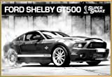 Macchine Poster Stampa e Cornice (Plastica) - Ford Mustang Shelby GT500 Supersnake (91 x 61cm)