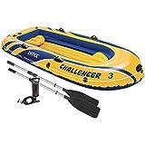 Intex Challenger - Barco hinchable, 295 x 137 x 43 cm, con remos/hinchador