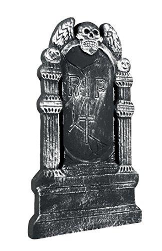 Boland 72019 - Grabstein Fliegender Totenkopf RIP, ca. 50 x 30 cm (Für Grabsteine Halloween)