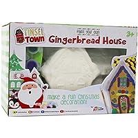 peindre votre propre maison de pain d'épice enfant noël cadeau artisanat décoration