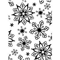 Darice 1218-71 - Carpetas de estampación, plantilla copos de nieve, 10,8 x 14,6 cm, color transparente
