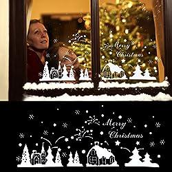 NICEXMAS Christmas Wall Sticker Window Stickers Removable Decal Home Decor DIY Art Decoration