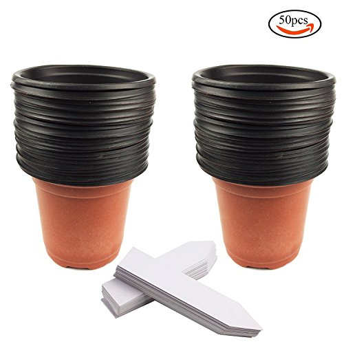 whonline-50-vasi-da-fiori-di-plastica-per-semina-50-cartellini-bianchi-per-piante
