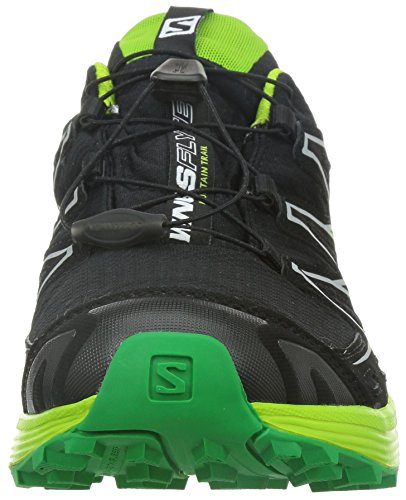 Salomon Wings Flyte Gtx Herren Traillaufschuhe Schwarz (Black/Granny Green/Fern Green)