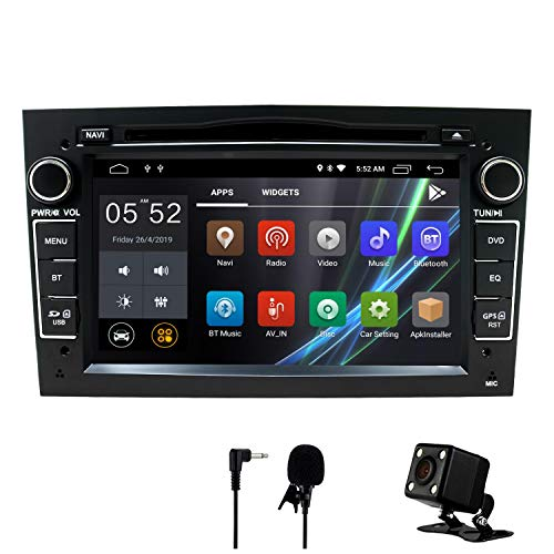 Auto Stereo Android 8.1 Radio DVD Player GPS NAVI 7 Inch IPS 2 Din Fits für Opel Antara Vectra Crosa Vivaro Zafira Meriva mit Rear Camera Support Bluetooth WiFi 4G Spiegel Link USB SWC OBD (Schwarz) Camera Mp3 Mp4 Video