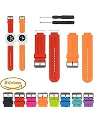 Correa de reloj de repuesto de silicona ajustable iFeeker para relojes de golf Garmin Approacch S2/S4GPS y reloj inteligente Garmin Vivoactive GPS con herramientas de instalación y adaptadores (color naranja)