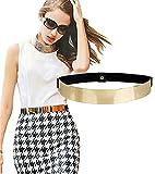 ALAIX Modischer Goldener Elastischer Figurschmeichelnder Taillengürtel Kleidgürtel Stretchgürtel Spiegel-Wirkung