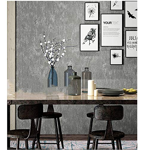 qingci Retro Plain Gray Cement Tapete Für Wände Wohnzimmer Bar Cafe Restaurant Bekleidungsgeschäft Hintergrund Wallpaper Roll 5.3 Roll 04 - Retro 4 Cement