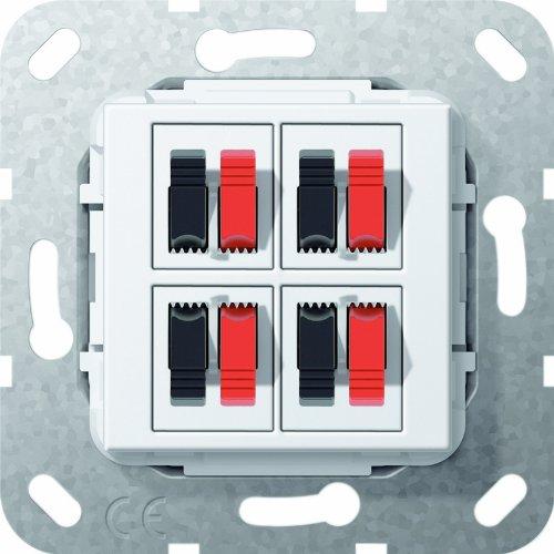 Preisvergleich Produktbild Gira 569403 Lautsprecher Anschluss 4 fach Einsatz, reinweiß