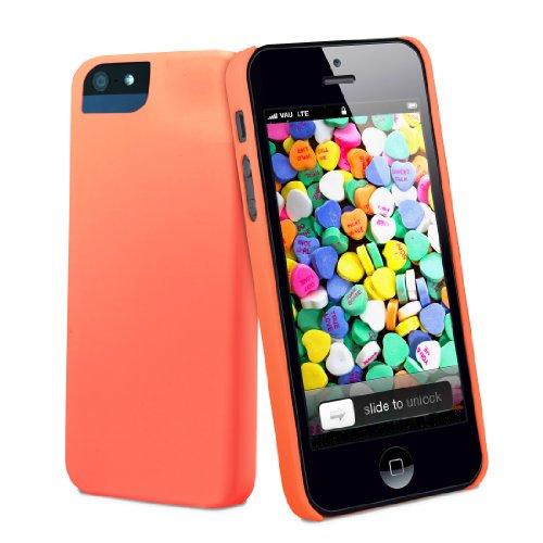 vau CandyShell Case - loud green - Hülle, Tasche für Apple iPhone 5S & iPhone SE juicy orange