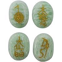 Hormonize Aventurine Stein Set von 4 Stück Karuna Symbol Reiki Healing Kristall Spiritual Geschenk Balancing preisvergleich bei billige-tabletten.eu