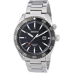 Seiko Herren-Armbanduhr Kinetic Analog Automatik Edelstahl SKA617P1