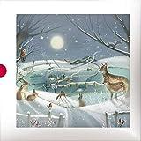 Cartes de Noël (Alm1123)–Woodland Friends–Boîte de 16cartes–2modèles