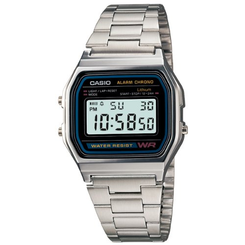 Casio A158WEA-1EF Retro Uhr Digital (Digitale Tempo-uhr)
